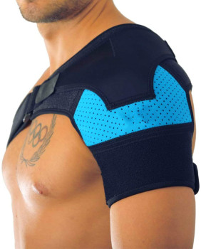 Shoulder Brace with Pressure Pad  Neoprene Support Pain Ice Pack Compression Sleeve - sale item Sportswear & Accessories