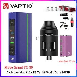 """Image 2 - Viva kita Move Grand TC 80W Vape boîte Mod Move 60 E Cig Mod 0.91 """"écran boîte de vapeur fit 18650 batterie Turbo réservoir trône atomiseur"""