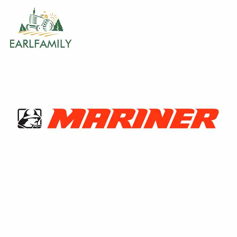 EARLFAMILY 15cm X 2.1cm For Mariner Sign Funny Car Stickers Waterproof Anime Bumper Trunk Truck Graphics Vinyl JDM Accessories