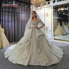 أماندا نوفيس فستان زفاف 2020 لبنان لحفلات الزفاف فستان زفاف فاخر 2020