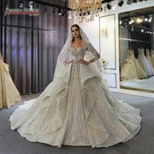 Amanda vestido de noiva iniciantes 2020, casamentos lebanos, luxo, noiva 2020