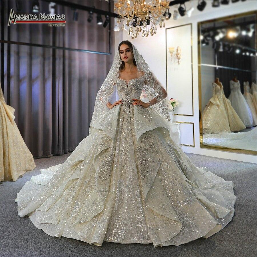 Аманда Novias Свадебное платье 2020, роскошное свадебное платье 2020Свадебные платья    АлиЭкспресс