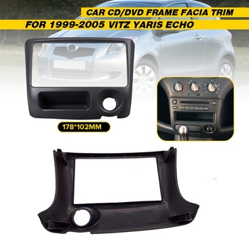 178 X 102Mm Double Din Car Radio Stereo DVD Fascia Panel Frame GPS Frame for Toyota Vitz Yaris Echo 1999-2005 image