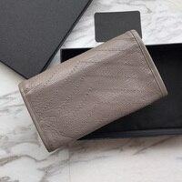 Women luxury aged genuine leather Wallet top quality designer brand Clutch feminine casual purse niki Long Wallet