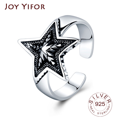 2020 HOT SALE Silver 925 Star Ring For Women Wedding 100% 925 Sterling Silver Stackable Finger Ring Jewelry