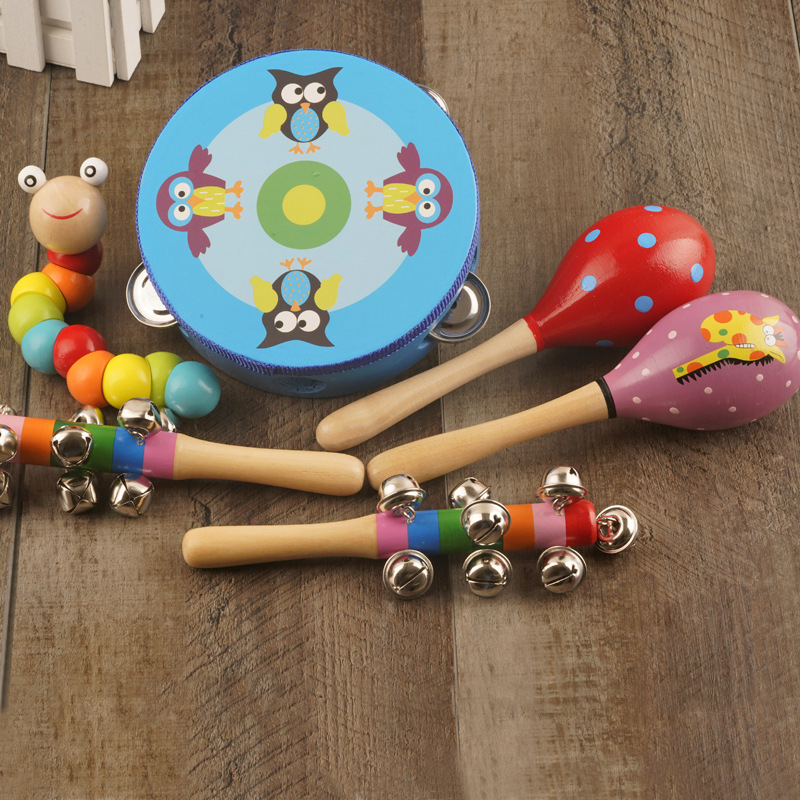 Men And Women Baby Rattle Kids Baby Toy Early Education Combination Wood Mainland China 1 A Year Of Age