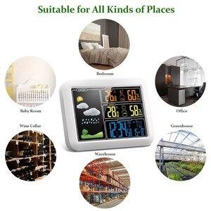 Image 2 - Draadloze Weerstation Indoor Outdoor Sensor Thermometer Hygrometer Digitale Wekker Barometer Weerbericht Kleur