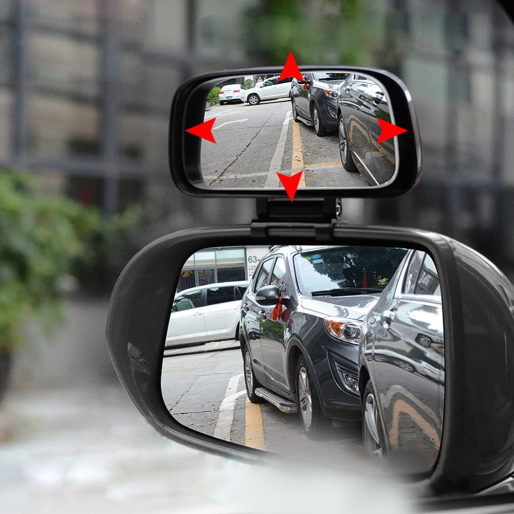 Rotation Adjustable Rearview Mirror Wide Angle Lens Car Blind Spot Mirror