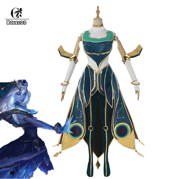 ROLECOS Game LOL Lux Cosplay Costume Cosmic Lux Cosplay Costume Cosplay Dresses Women Sexy Cosplay Dresses Full Set