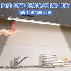 Led Onder Kast Licht Sensor Usb Led Kast Verlichting 5V Garderobe Led Nachtlampje Buis 20 30 40 50cm Slaapkamer Keuken Lamp 2835