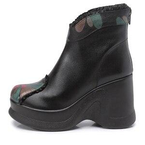 Image 5 - GKTINOO 2020 أحذية النساء مريحة الخريف جلد طبيعي حذاء من الجلد للنساء لينة أسافين أحذية منصة السيدات