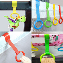 Toy Baby 10pcs Pull-Ring Bed Crib Multi-Color-Hook Wake-Up-Stand-Up Space-Saving Travel