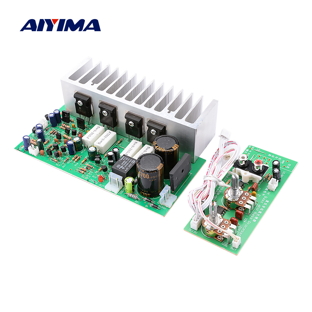 AIYIMA A1695 C4467 350W High Power Subwoofer Amplifier Board Woofer Audio Stereo Amplifier For DIY Speaker Dual AC24V-28V