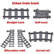 100 pces cidade train track building block brinquedos combinar a série de trem para construir uma grande cena compatível com todas as faixas de marca
