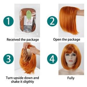 Image 5 - Tổng Hợp Bộ Tóc Giả Dành cho Nữ Màu Vàng Cam Màu Lolita Tóc Giả 2019 Mới đến Tóc Giả Nữ Cosplay 12 Inch giả tóc Giả với Bangs