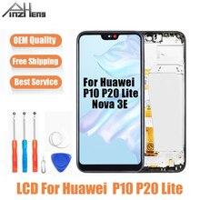 AAAA איכות LCD עבור Huawei P10 P20 לייט LCD מסך מגע תצוגת Digitizer עצרת החלפה עבור Huawei נובה 3E מסך