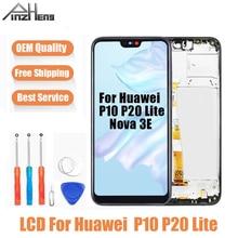 AAAA Qualità A CRISTALLI LIQUIDI Per Huawei P10 P20 Lite LCD Display Touch Screen Digitizer Assembly di Ricambio Per Huawei Nova 3E Schermo