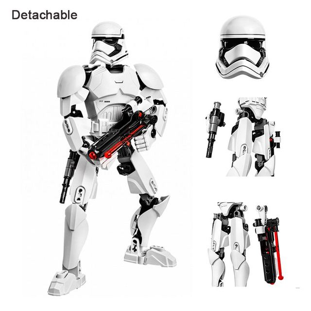Star Wars Buildable Figure Stormtrooper Darth Vader Kylo Ren Chewbacca Boba Jango Fett General Grievou Action Figure Toy For Kid 1
