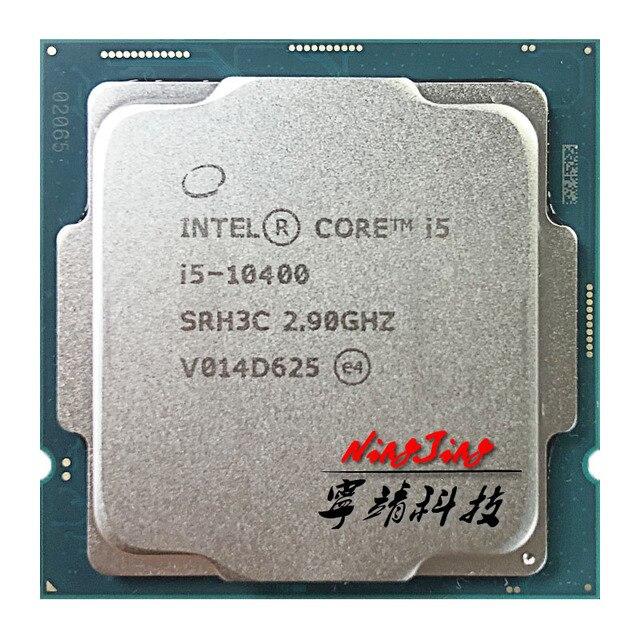 Intel Core i5-10400 i5 10400 2.9 GHz, Six cœurs à douze fils, processeur dunité centrale L2 = 1.5M L3 = 12M, 65W, LGA 1200