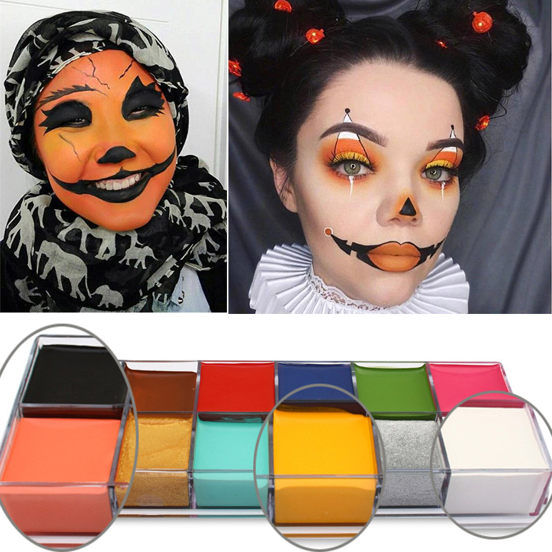 Cute Halloween Pumpkin Special Effect Makeup Pigment-Waterproof Fake Wound Scar Movie Stage Special Effects Makeup