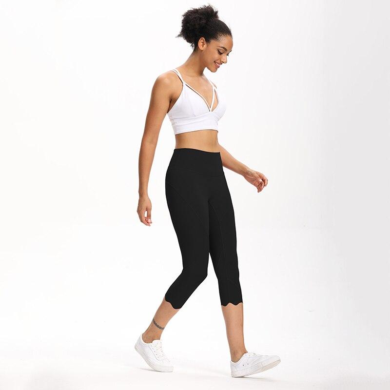 Cardism High Waist Sport Pants Women Yoga Sports Gym Sexy Leggings For Fitness Joggers Push Up Women Calf Length Pants Wave 5