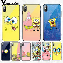 Yinuoda Spongebob squarepants friendship Black Rubber Phone Case Cover for Apple iPhone 8 7 6 6S Plus X XS MAX XR Cellphones(China)