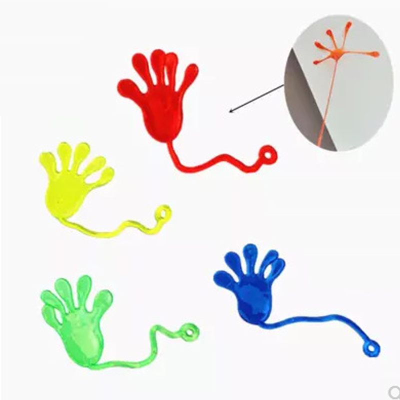 1PCS Elastic Retractable Sticky Palm Climbing Wall Venting Palm Creative Tidy Small Hand Whole Child Small Toy