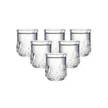 Набор из 6 тяжелой базы машина сделал рюмки бессвинцовые бокал для ликера очки для водки spirit drinks 50 мл