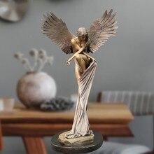 Anioł figurki statua odkupienie anioł rzeźba ozdoby z żywicy do dekoracji kościoła w domu