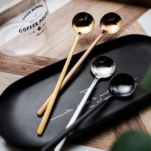 Coffee Spoon Stirring-Cup Afternoon Tea Stainless-Steel Dessert Kitchen Tableware Round