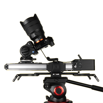 Motorized Micro 2 Camera Slider Track Dolly Motor Slider Rail System Portable Travel Video Slider For DSLR BMCC RED ARRI Mini yelangu l3 intelligent electric video dolly 3 wheel pulley car rail rolling track slider skater for dslr camera camcorder smar