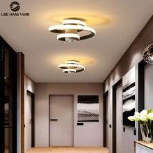 Metal Modern Ceiling Lamp Corridor Light 15W Led Ceiling Light Black White Decoration Luminaires Living room Bedroom Dining room