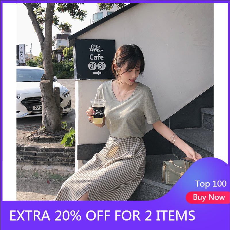 MISHOW 2 Piece Set Women 2019 Summer T-Shirt Top + Irregular Design Skirt Suits Two Pieces Summer Clothes Sold Separately
