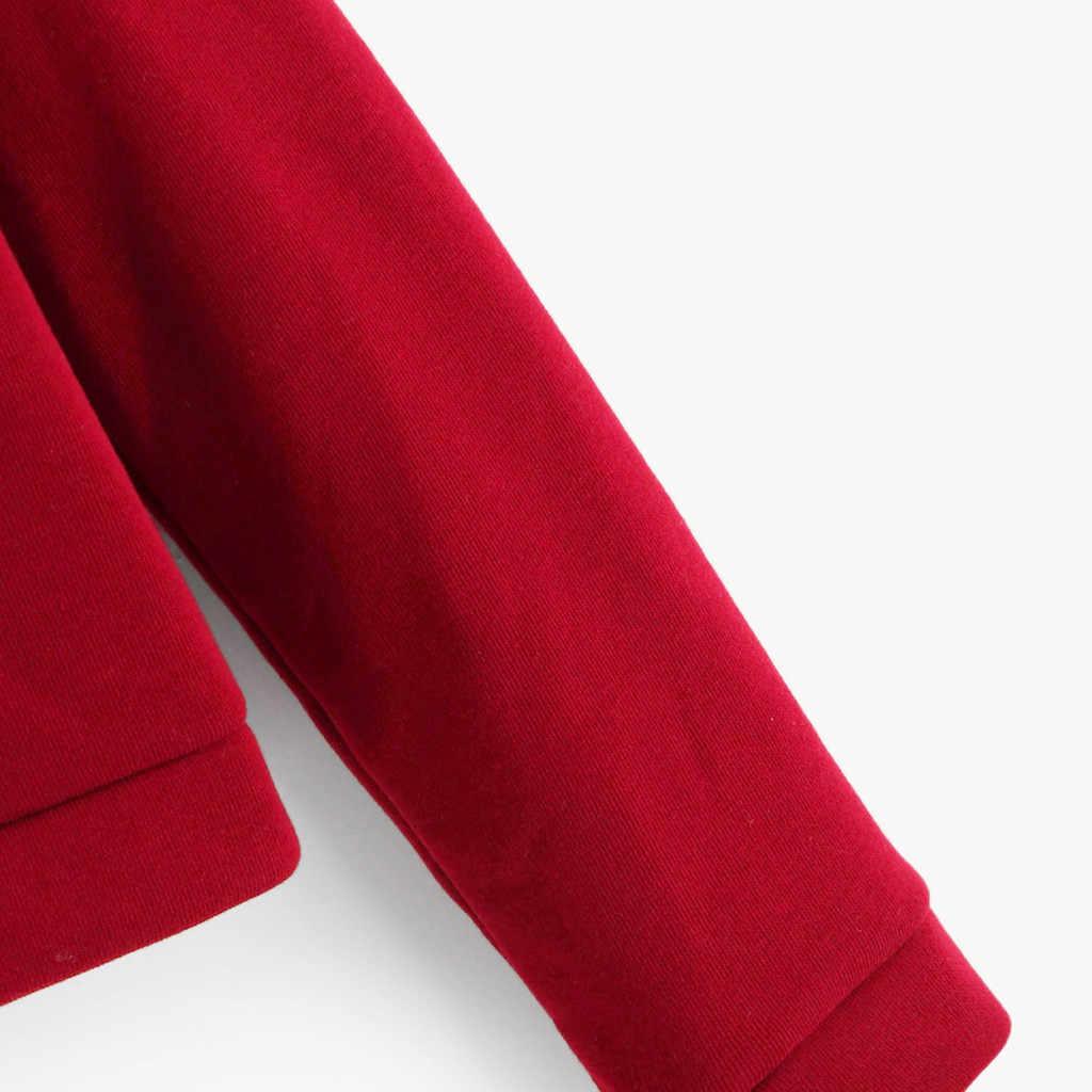 Womail Merah Kaus Wanita Hoodie Lengan Panjang Harajuku Fashion Musim Gugur Pullover Berkerudung Korea Style Singkat Pakaian Olah Raga T722
