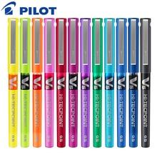 12 개/몫 일본 파일럿 V5 액체 잉크 펜 0.5mm 7 색 선택 BX V5 표준 펜 사무실 및 학교 편지지