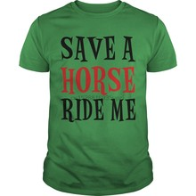 Camiseta de hombre Save A Horse (7) cool mujeres camiseta camisetas top(China)