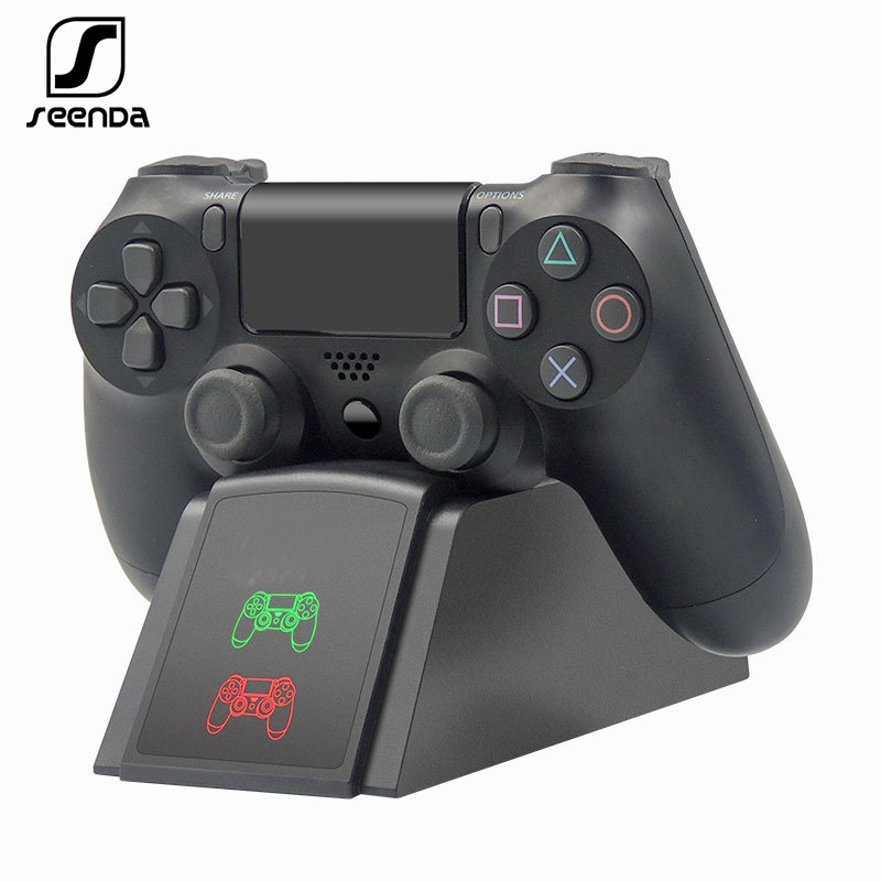 SeenDa Controller Dock Charger For PS4 Charging Stand Station Cradle For Sony Playstation 4 PS4 / PS4 Pro /PS4 Slim Controller