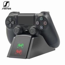 SeenDa contrôleur Dock chargeur pour PS4 socle de charge Station berceau pour Sony Playstation 4 PS4 / PS4 Pro /PS4 contrôleur mince