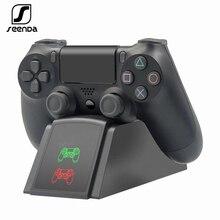 Stacja ładująca kontrolera SeenDa do konsoli PS4 podstawka ładująca stacja dokująca do kontrolera Sony Playstation 4 PS4 / PS4 Pro /PS4 Slim