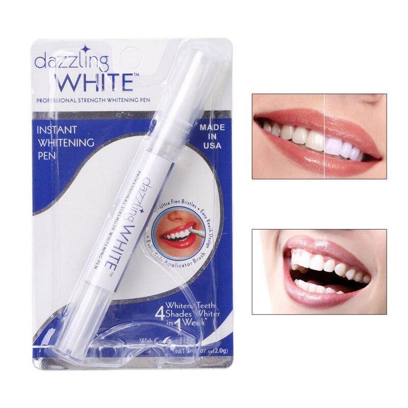 2PCTeeth Whitening Rotary Peroxide Gel Tooth Cleaning Bleaching Kit Dental Dazzling White Teeth Whitening Pen Blanqueador Dental
