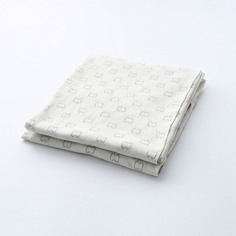 Classic Baby blanket thick cotton towel soft white throw bay warm knit baby swaddling cloth baby bedding Mexemina 90*112 cm(China)