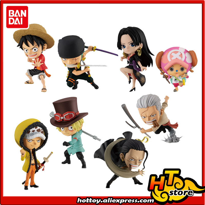 >BANDAI ADVERGE MOTION STAMPEDE Toy Figure - <font><b>Set</b></font> <font><b>8</b></font> <font><b>Pcs</b></font> Luffy Zoro Law Sabo HANCOCK Tony Tony Chopper Smoker Crocodile