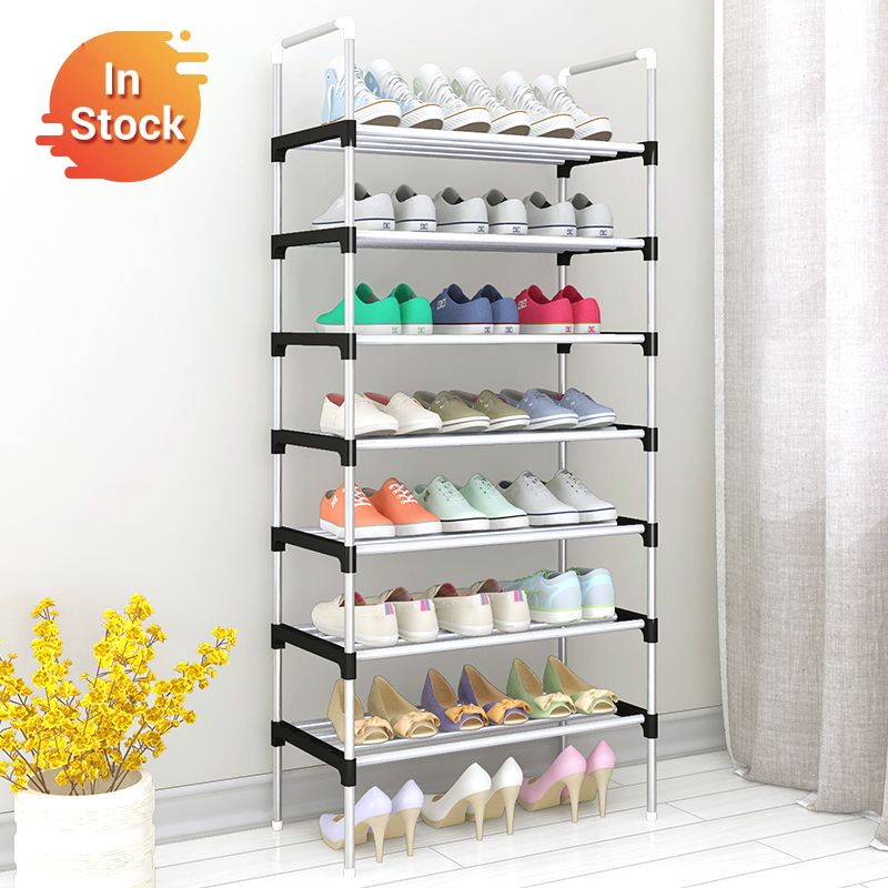 Shoe-Rack Sneakers Stand-Holder Handrail Space-Saving Dorm Easy Metal Portable Home  title=