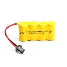 2/3AA Ni Cd 4.8V 300mAh Nickel Cadmium Pin Sạc XH SM cắm cho đèn Led RC xe ô tô đồ chơi Xe Tải máy đuổi Côn Trùng