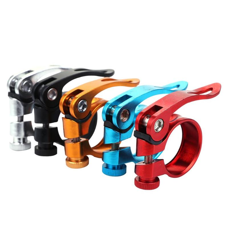 Aluminum Bicycle Seatpost Clamp Quick Release MTB Bike Seat Post Tube Clip Bike Parts 31.8mm 28.6mm 24.9mm