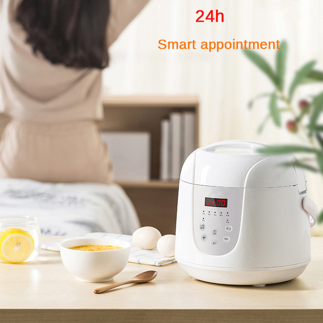 Multifunction 2L Mini Rice Cooker 220V 400W Smart Home Kitchen Electric Food  Steamer Pot 24H Appointment for 1-3 People 5
