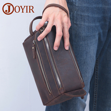 JOYIR Genuine Leather Men's Clutch Bags for Men HandBag Make