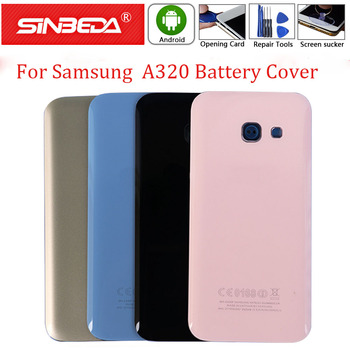 A320F A320 Back Battery For Samsung Galaxy A3 2017 Glass Housing Cover Rear Door Panel Housing Case For A3 A230 2017 Back Case image