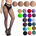 Женские чулки в сетку, разноцветные, размера плюс, колготки, цветной, маленький, средний, большой, сетчатые, рыболовные, колготки, анти-крючок...