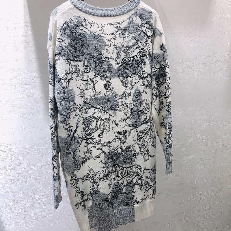 Vrouwen Truien en Pullovers Casual Oversized Trui Kerst Winter Mouw Pull Femme gebreide jumpers - 2